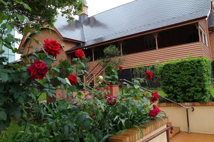 Rose Garden ~ Christ Church, Milton ~ photo by Egil Gausel; reproduced with permission